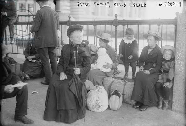 Dutch family, Ellis Island, c.1915 (b/w photo)