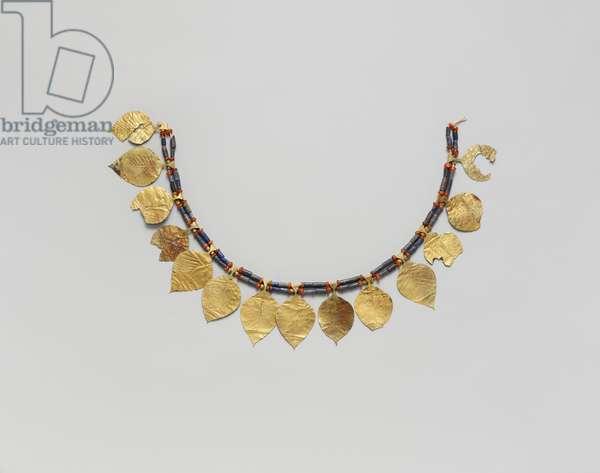Headdress,  c.2600–2500 BC (gold, lapis lazuli and carnelian)