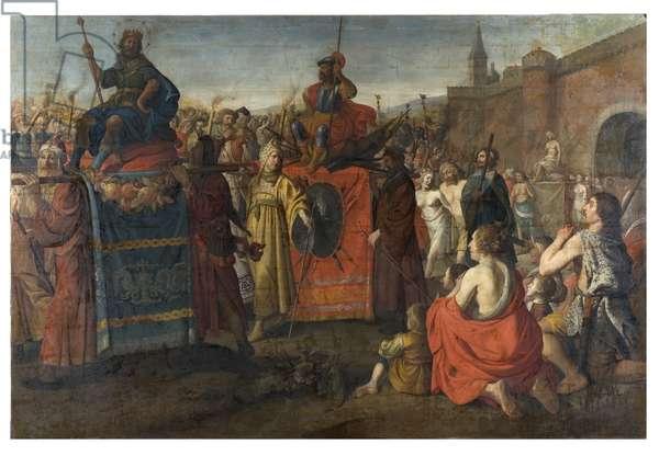 A Roman Triumphal Parade, 1641 (oil on canvas)