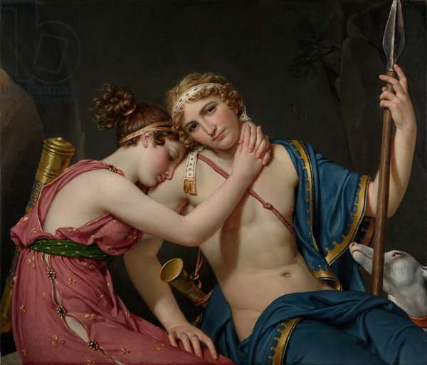 The Farewell of Telemachus and Eucharis, 1818 (oil on canvas)