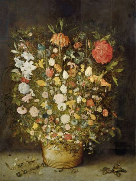Still Life with Flowers, 1600-30 (oil on panel)