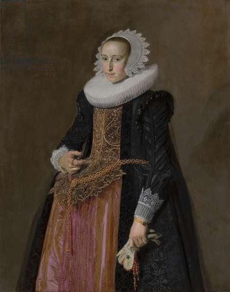 Portrait of Aletta Hanemans, 1625 (oil on canvas)