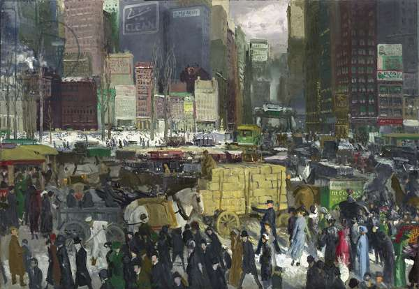 New York, 1911 (oil on canvas)
