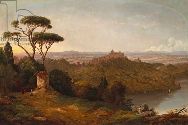 Castle Gondolfo, Lake Albano, Italy, 1852 (oil on canvas)