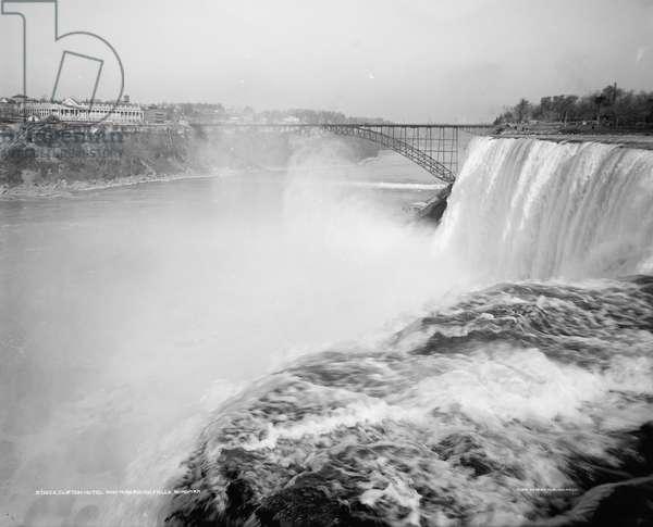 Clifton Hotel and American Falls, Niagara