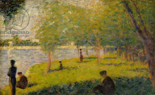 "Study for ""A Sunday on La Grande Jatte"", 1884 (oil on wood)"