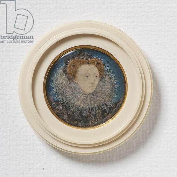 Elizabeth I, Queen of England, c.1586-87  (w/c on vellum)