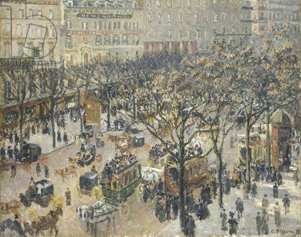Boulevard des Italiens, Morning, Sunlight, 1897 (oil on canvas)