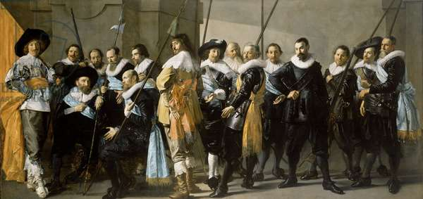 Militia Company of District XI under the Command of Captain Reynier Reael, Known as 'The Meagre Company', 1637 (oil on canvas)