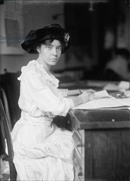 Alice Paul, 1915 (b/w photo)