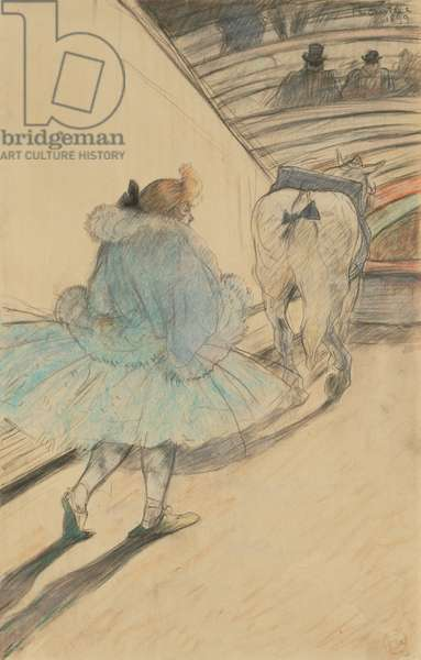 At the Circus: Entering the Ring, 1899 (black and coloured pencils on paper)