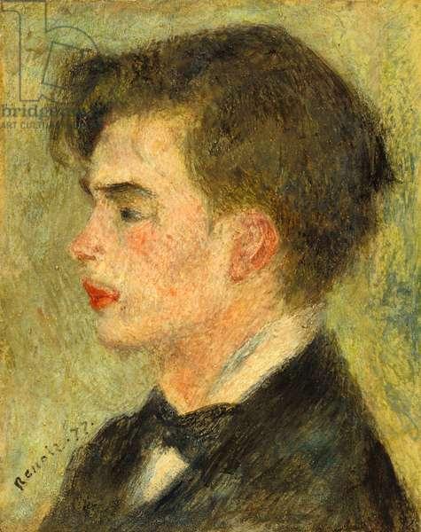 Georges Rivière, 1877 (oil on cement)