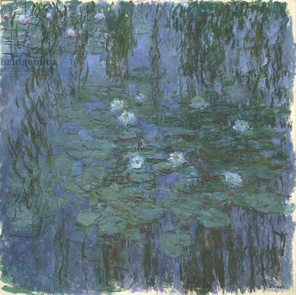 Blue Nympheas, 1916-9 (oil on canvas)
