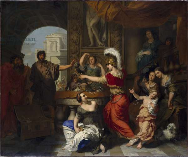 Achilles Discovered Amongst the Daughters of Lycomedes (oil on canvas)