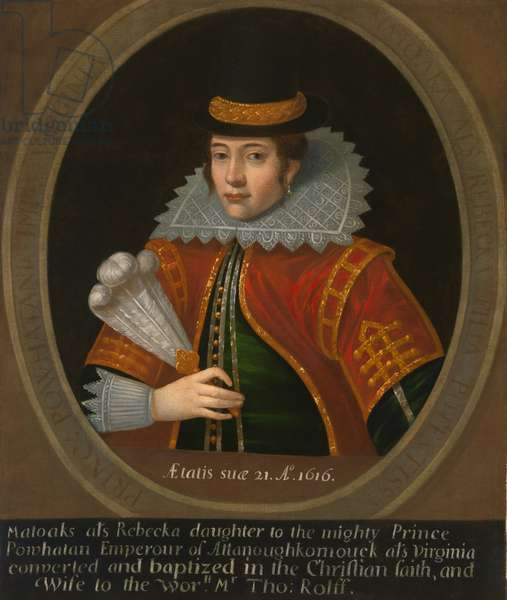 Pocahontas (c. 1595- 1617), after 1616 (oil on canvas)