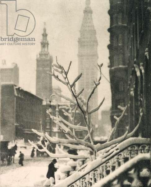 Two Towers - New York, 1911 (photogravure)