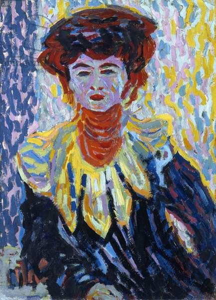 Doris with Ruff Collar, c.1906 (oil on cardboard)