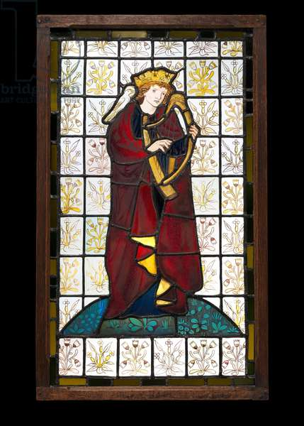 King David the Poet, 1863 (stained glass)