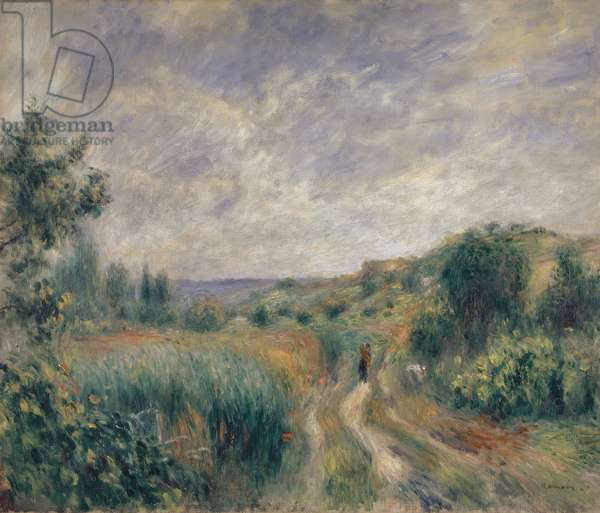 Landscape near Essoyes, 1892 (oil on canvas)