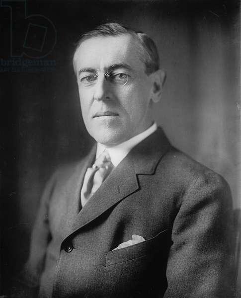 Woodrow Wilson, 1913-20 (b/w photo)