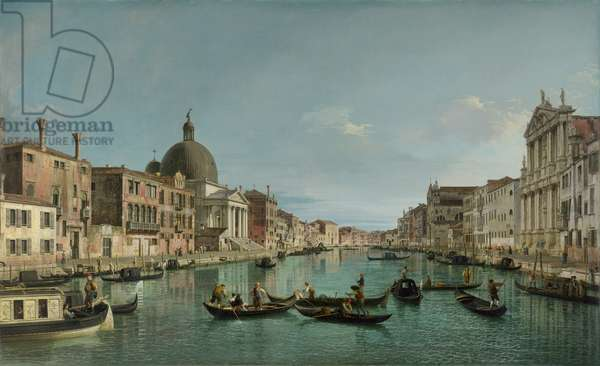 The Grand Canal in Venice with San Simeone Piccolo and the Scalzi church, c. 1738 (oil on canvas)