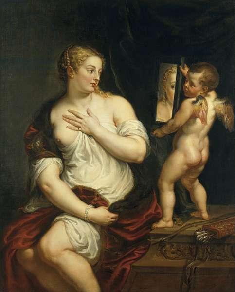 Venus and Cupid, c.1606-11 (oil on canvas)