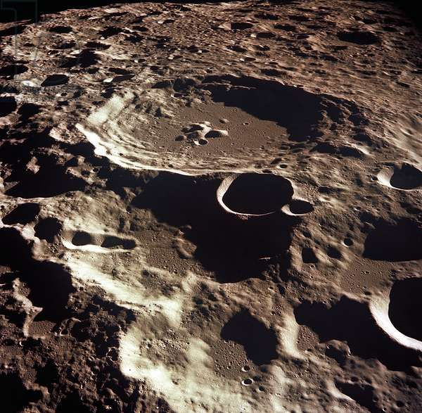 Crater 308 on the Moon, 1969 (colour photograph)