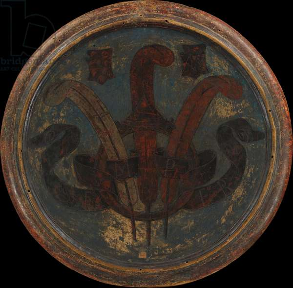 Triumph of Fame, a birth salver of Lorenzo the Magnificent, reverse, c. 1449 (tempera, silver, and gold on wood)