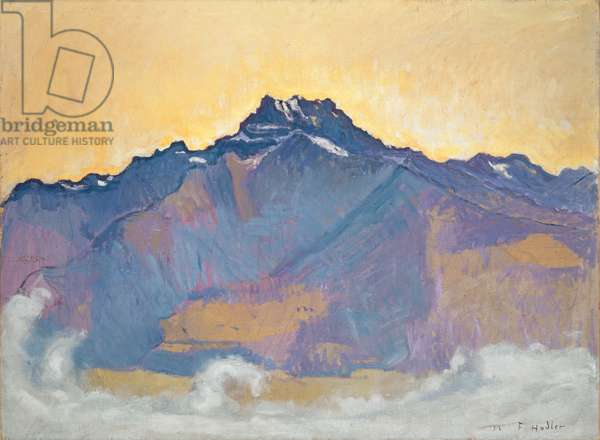 The Dents du Midi seen from Chesières, 1912 (oil on canvas)