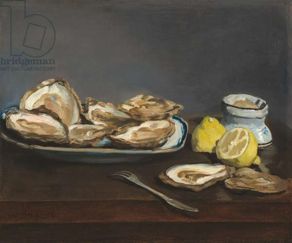 Oysters, 1862 (oil on canvas)