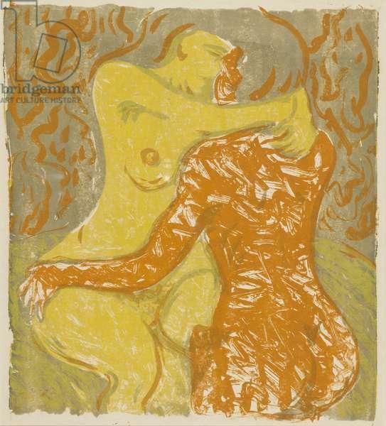 Love scene, 1908 (lithograph)