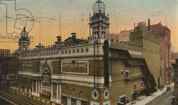 The Hippodrome, New York, 1905 (colour litho)