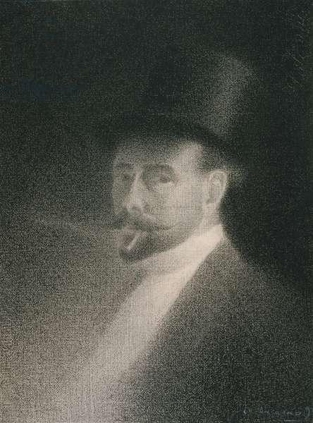 Self-Portrait, 1892 (Conté crayon on white laid paper on board)