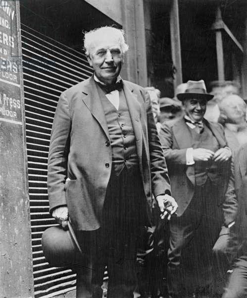 Thomas Edison, 1925 (b/w photo)