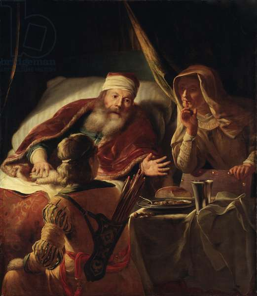 Isaac Blessing Jacob, c.1660-70 (oil on canvas)