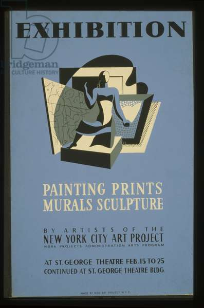 Exhibition Painting, prints, murals, sculpture by artists of the New York City Art Project, 1936-41 (litho)