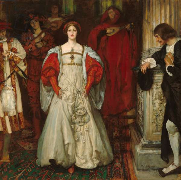 """""""Who Is Sylvia? What Is She, That All the Swains Commend Her?"""", c.1896-99 (oil on canvas)"""
