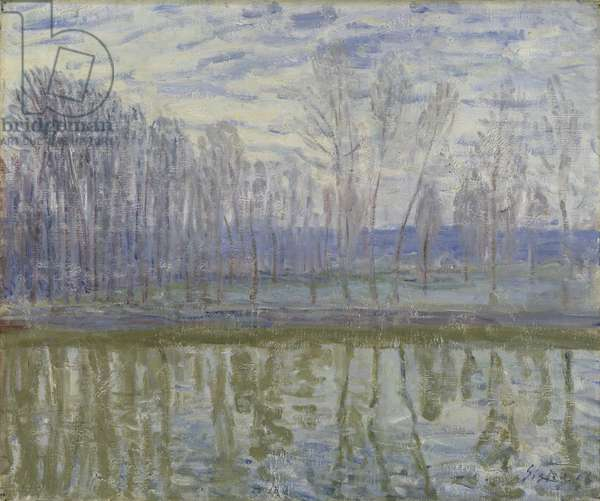 On the Shores of the Loing, 1896 (oil on canvas)
