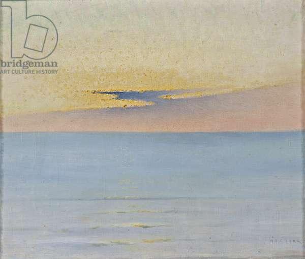 Sea in Sunset (oil on canvas)