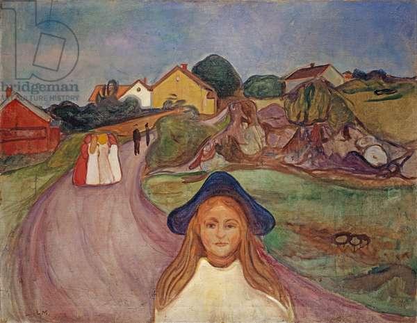 Road in Aasgaardstrand, 1901 (oil on canvas)