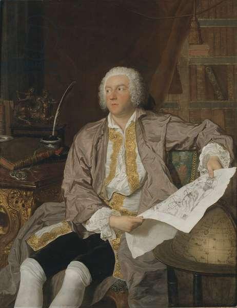 Count Carl Gustaf Tessin (1695-1770) (oil on canvas)