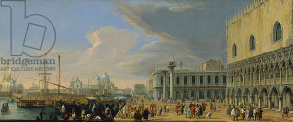 The Molo, Venice, Looking West, c.1709 (oil on canvas)