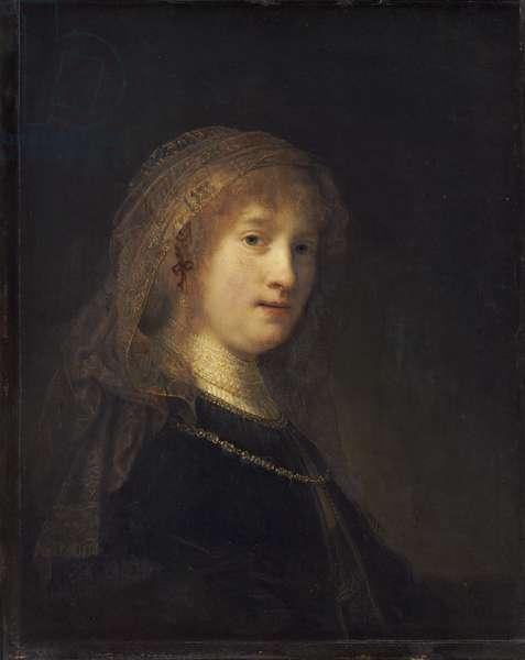 Saskia van Uylenburgh, c.1634-1640 (oil on panel)