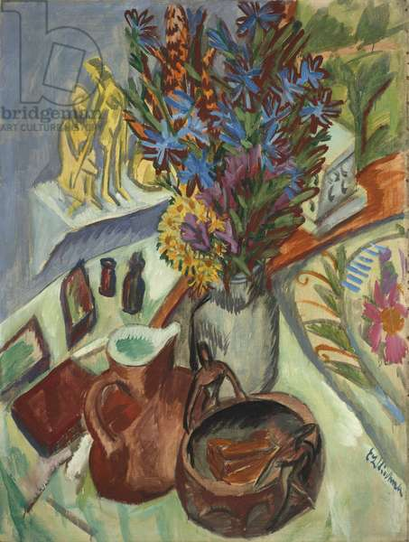Still Life with Jug and African Bowl, 1912 (oil on canvas)