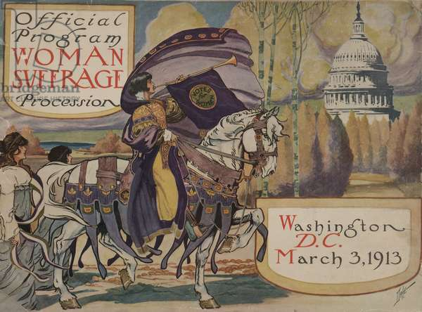Program for the National American Woman Suffrage procession, 1913 (printed cover)