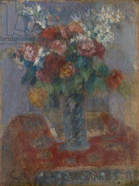 Bouquet, c.1900 (oil on silk on canvas)