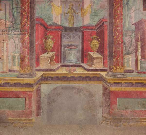 Wall painting from the cubiculum of a villa at Boscoreale, c.50-40 B.C (fresco)