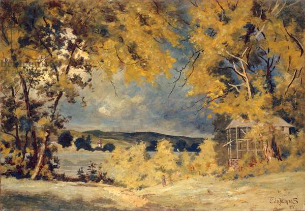 Landscape, Binghamton, New York, 1907 (oil on masonite)