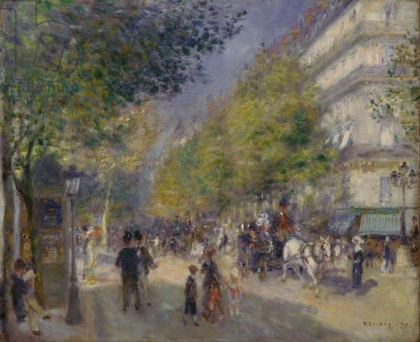 The Boulevards (Les Grands Boulevards), 1875 (oil on canvas)