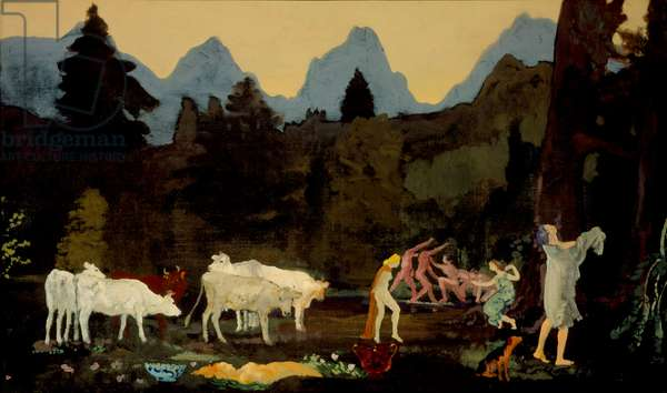 Pastoral Dells and Peaks, c.1908-11 (oil on canvas)